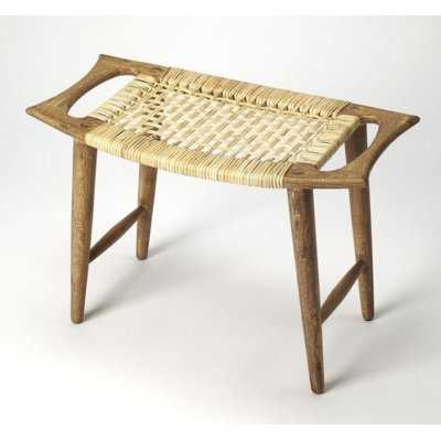 Arago Modern Rattan Accent Stool - Wayfair