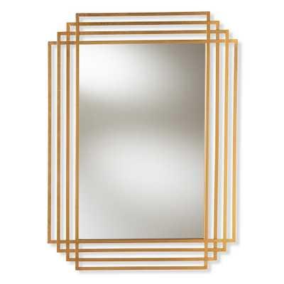 Kalinda Antique Gold Wall Mirror - Home Depot