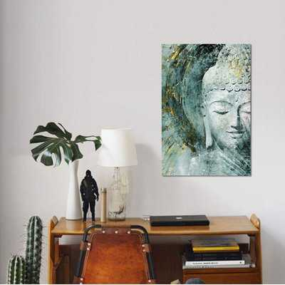 'Buddha, Front' Graphic Art Print on Canvas - Wayfair