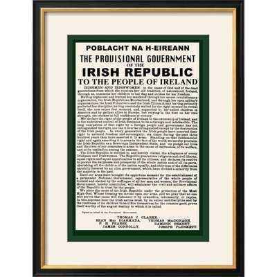 'Irish Republic' Framed Textual Art - Wayfair
