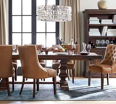 "Banks Extending Rectangular Dining Table, Large 92"" - 128"" L, Alfresco Brown - Pottery Barn"