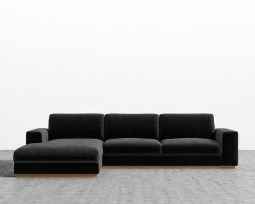 Noah Sectional - Black Right-hand-facing - Rove Concepts