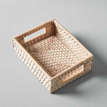 Modern Weave Basket, Whitewashed, Small - West Elm