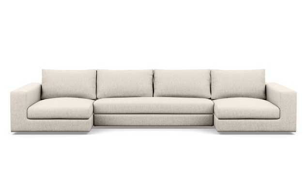 Walters U-Sectional with Wheat Fabric, and Bench Cushion - Interior Define