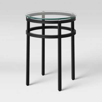 Ellsworth Glass Top Round End Table Clear - Threshold - Target