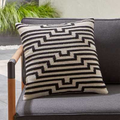 Mohave Lines Outdoor Pillow - Crate and Barrel