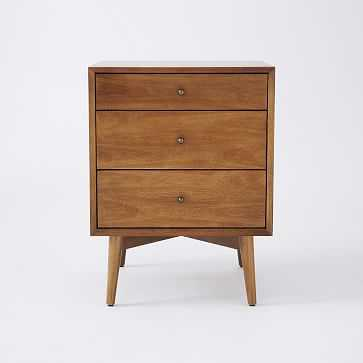 Mid-Century Media - 3-Drawer Side Table (Acorn) - West Elm