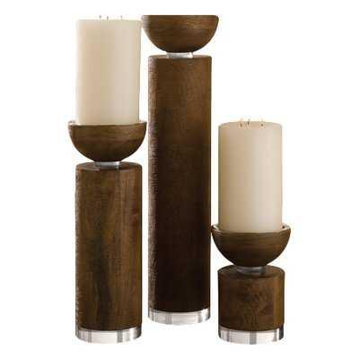 Pillar Wood Candle Holder - AllModern