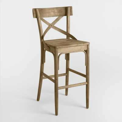 Distressed Wood Bistro Barstool - World Market/Cost Plus