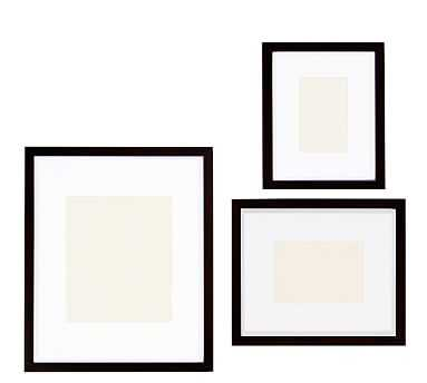 Wood Gallery, Set Of 3 - Black (4x6, 5x7, 8x10) - Pottery Barn
