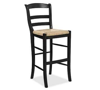 Isabella Barstool, Counter Height, Black - Pottery Barn