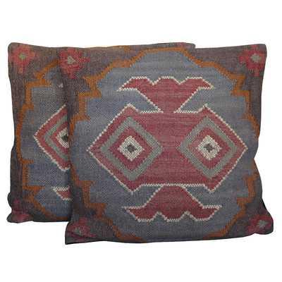 Flat Weave Throw Pillow (Set of 2) - Wayfair