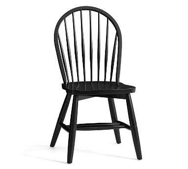 Windsor Dining Chair, Black - Pottery Barn