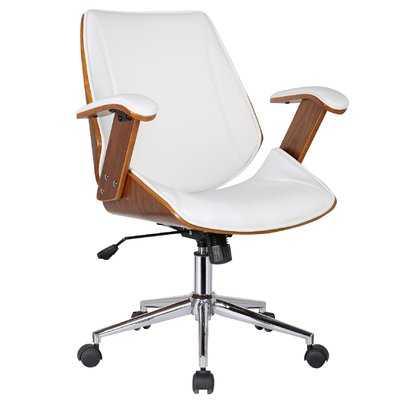 Smythe Mid-Back Leather Desk Chair - Wayfair