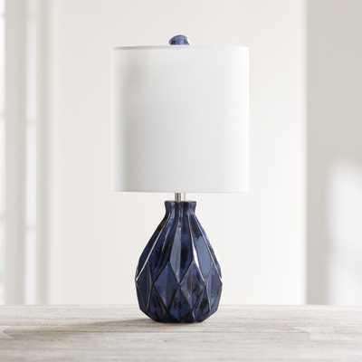 Origami Blue Ceramic Table Lamp - Crate and Barrel