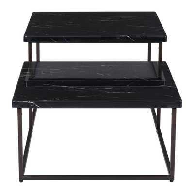 Stanton Black Coffee Table - Home Depot