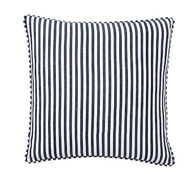 "Catalina Stripe Pillow Cover, 18"", Blue - Pottery Barn"