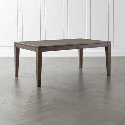 Morris Ash Grey Reclaimed Wood Extension Dining Table - Crate and Barrel