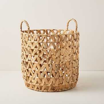 Open Weave ZigZag Baskets, Medium - West Elm
