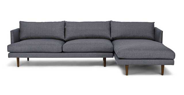 Burrard Stone Blue Right Sectional Sofa - Article
