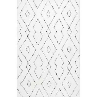 Peraza Hand-Tufted White Area Rug - Wayfair