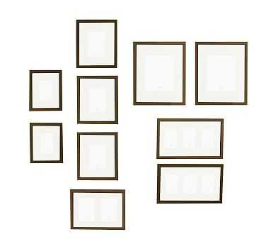 Gallery in a Box, Espresso Stain Frames, Set of 10 - Pottery Barn