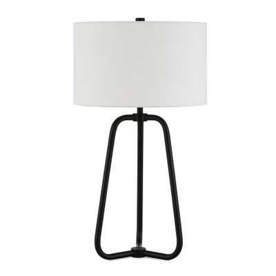 Hudson&Canal Marduk 25-1/2 in. Blackened Bronze Table Lamp - Home Depot