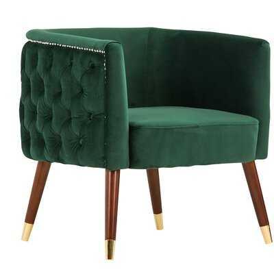 Palen Velvet Barrel Chair - Wayfair