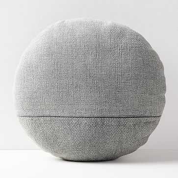 """Cotton Canvas Pillow, Platinum, 18"""" Round - West Elm"""