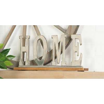 Silver Home Letter Block - Wayfair