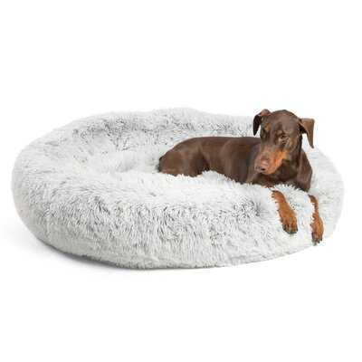 Shag Donut Round Dog Bed Luxury Plush Cat Cuddler Pillow - Wayfair