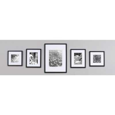 5-Opening 4 in. x 6 in. Matted Picture Frame, Black - Home Depot