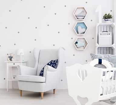 Mini Polka Dots Wall Decal, Warm Gray - Pottery Barn