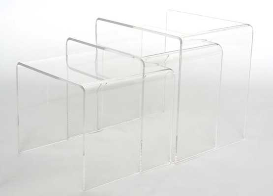 Baxton Studio Acrylic Nesting Table 3-Pc Table Set Display Stands - Lark Interiors