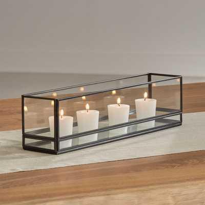 "Jasper 15"" Black Centerpiece Tealight Holder - Crate and Barrel"