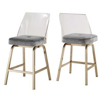 "Booneville 24"" Swivel Bar Stool (set of 2) - Wayfair"