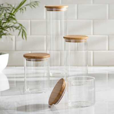 4 Piece Storage Jar Set - Birch Lane