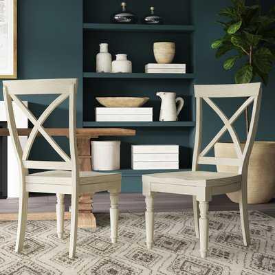 Arrellano X-Back Solid Wood Dining Chair (Set of 2) - Birch Lane