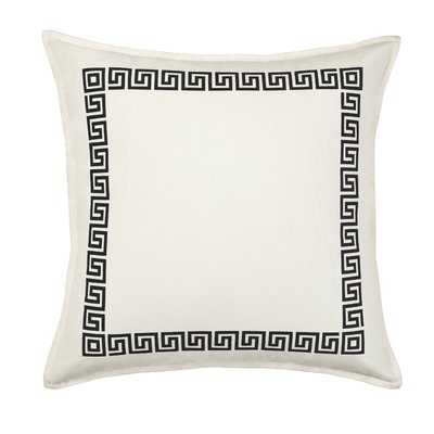 Dore Greek Key Cotton Canvas Throw Pillow - Wayfair