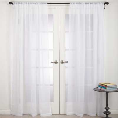 White Solid Curtain Panels - Saro Lifestyle - Target