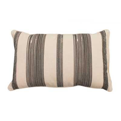Levi Stripe Lumbar Throw Pillow Black - Décor Therapy - Target
