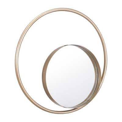 Solar Gold Decorative Mirror - Home Depot