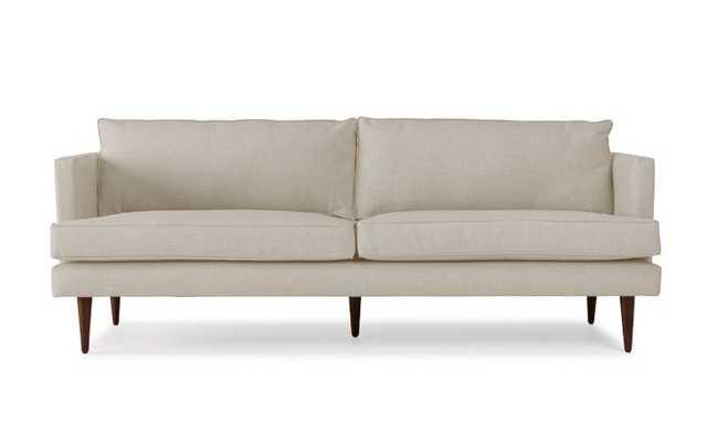 "Beige Preston Mid Century Modern 86"" Sofa - Chance Sand - Mocha - Joybird"