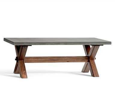 Abbott Rectangular Coffee Table - Pottery Barn