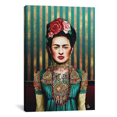 "40""x26"" Frida by Giulio Rossi Unframed Wall Canvas Print Bayou Teal - iCanvas - Target"