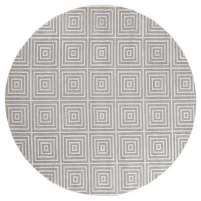 United Weavers Cascades Tehama Sand 7 ft. 10 in. x 7 ft. 10 in. Round Rug, Brown - Home Depot
