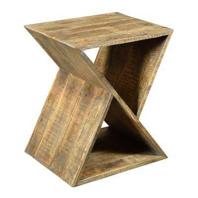 Alessandro Mango Wood Angled End Table - Wayfair