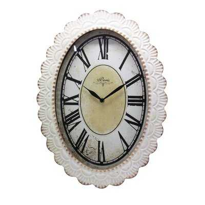 Rourke Oval Floral Wall Clock - Wayfair