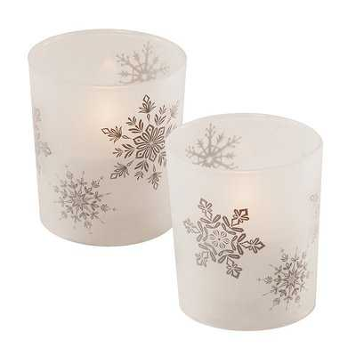 Snowflakes Glass Unscented Candle - Wayfair