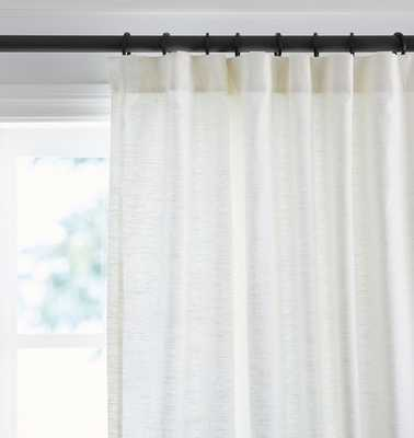 Linen/Cotton Drapery Panel - White - Rejuvenation